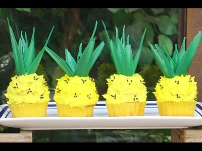 PINEAPPLE CUPCAKES! Summer fun Cupcakes with  My Cupcake Addiction