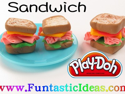 Play Doh Turkey.Chicken.Ham Sandwich - How to with playdough by Funtastic Ideas