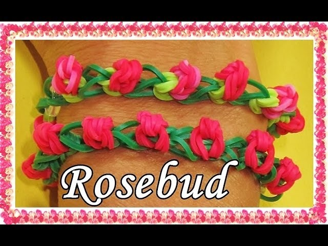 Rainbow lLoom Bands Rosebud Loom Bracelet
