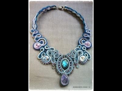 Soutache necklace and mandala pendants. Beadwork video