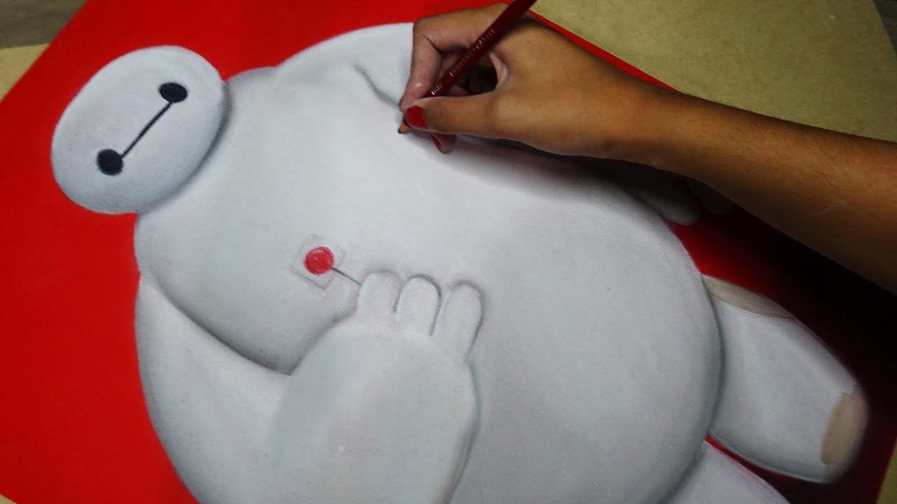 Speed Drawing: Baymax (Big Hero 6) | Diana Díaz