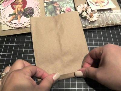 Valentine Vintage Altered Paper Bags