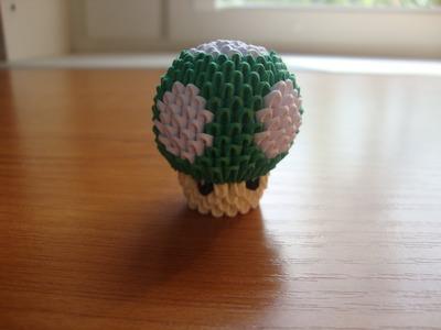 3d origami mini mushroom