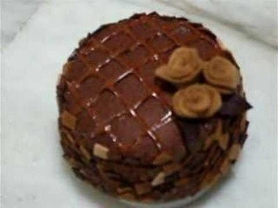 Chocolate Felt Cake (Handmade Music Box)- Shirley's Workshop