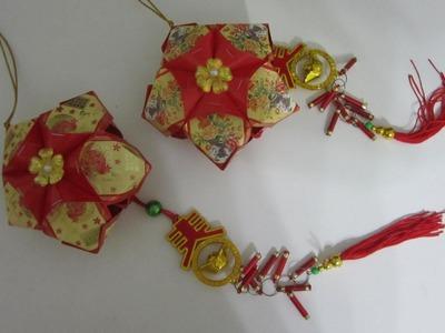 CNY TUTORIAL 8 - How to make Simple Star-shaped Angpow Lantern