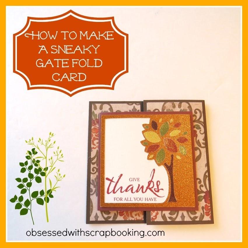 CTMH Artbooking Cricut Faux Gate Fold Card