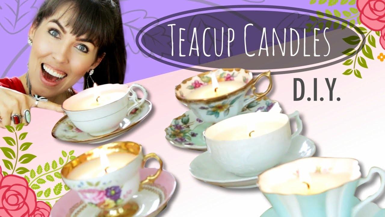 D.I.Y. Teacup Candles