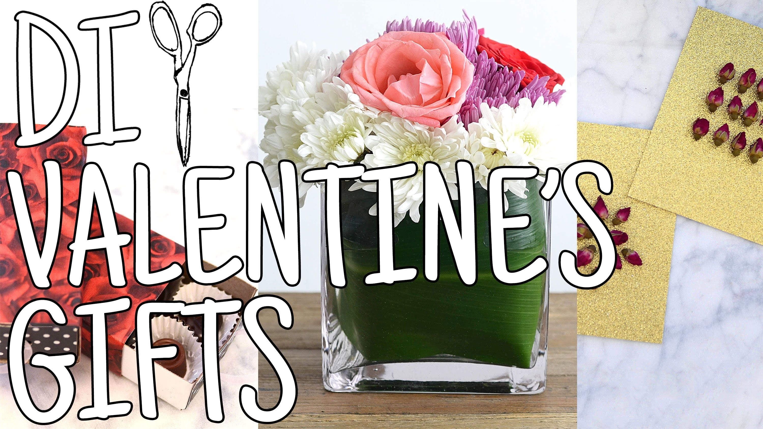 DIWhyNot: 3 DIY Valentine's Gifts - Chocolates, Flowers and Cards!