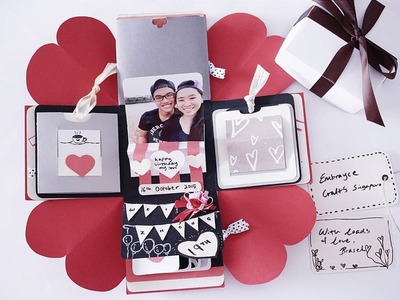 DIY birthday exploding box card (Sweetheart surprise)