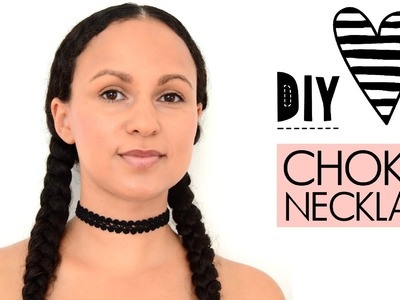 ♥ DIY Choker Necklace | quick & easy | how to | tutorial