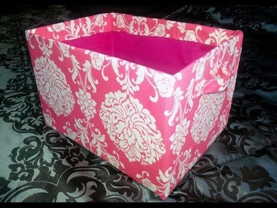 DIY Cube Shelves Cardboard Fabric Storage Bins   Storage Box