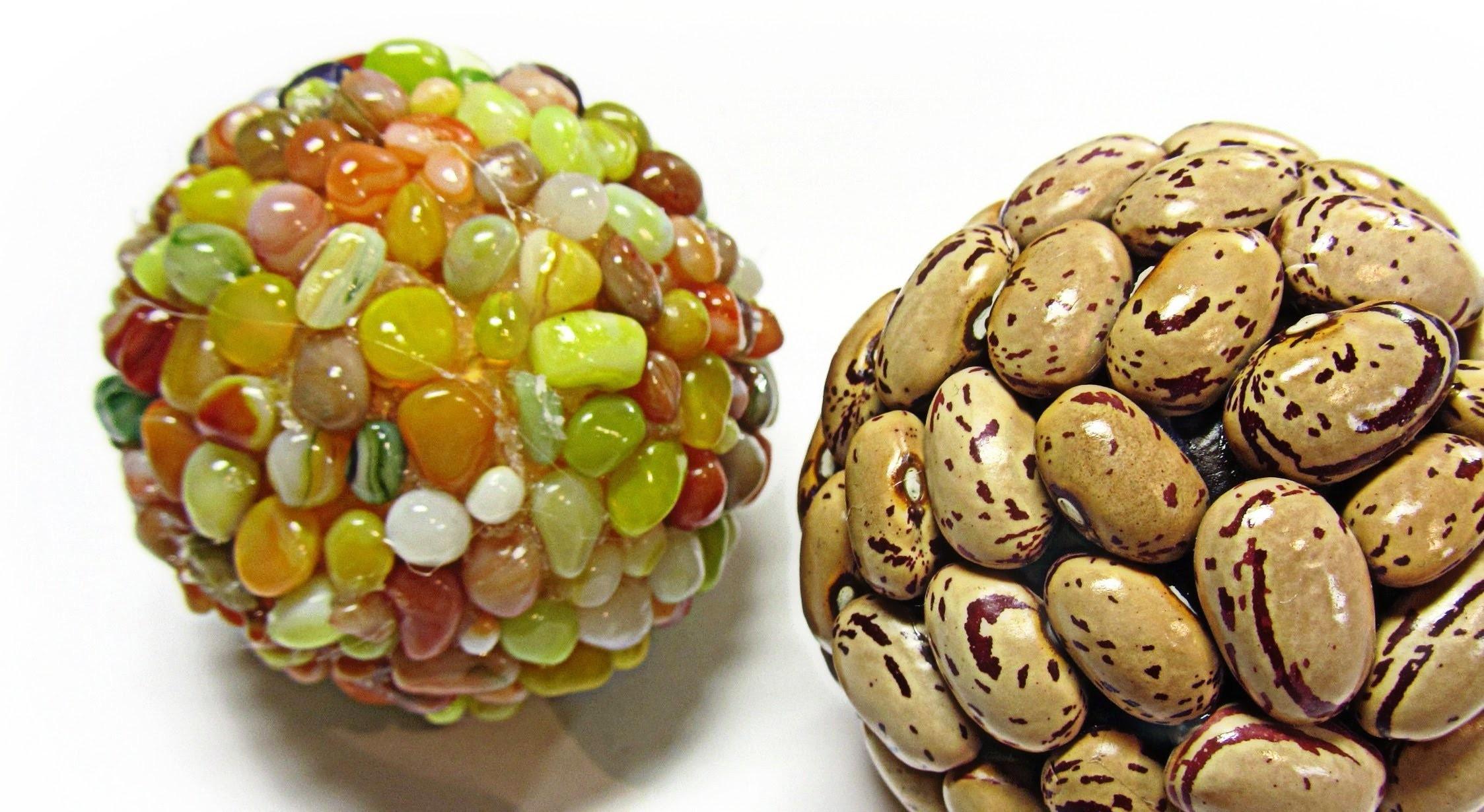 DIY: Decorated balls. Bolas decoradas.