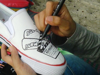 DIY Doodle On Shoes (At The Beach)