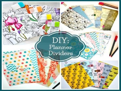 DIY Filofax Dividers 5 Ways To Create Planner Dividers & Unique Looking Divider Tabs