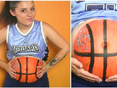 DIY Halloween Costume: Basketball Player Body Paint | Pregnancy Costume