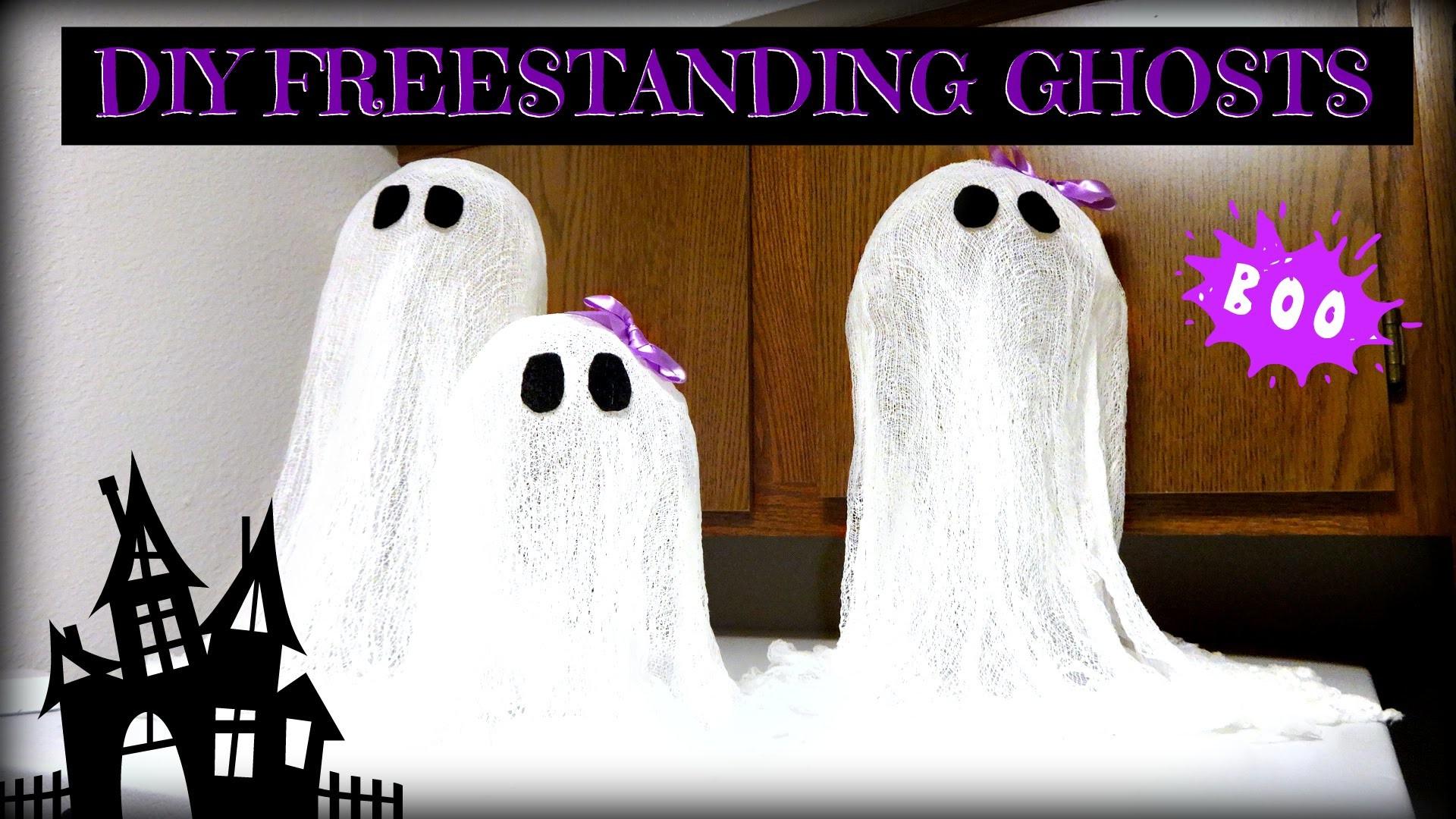 DIY Halloween Ghost Decoration