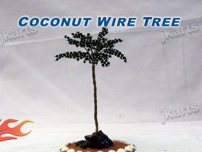 DIY How to make Coconut Wire Tree - JK Arts 151