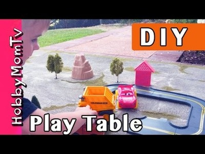 DIY How to Make Kids Play Table! Table Top Gaming Tutorial for Parents by HobbyMomTV