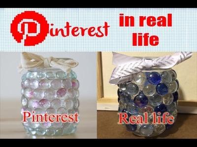 DIY Mason Jar Prism Light - Pinterest in Real Life