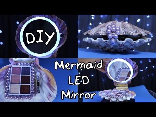 DIY Mermaid Inspired LED Mirror | #DIYwithJhoy