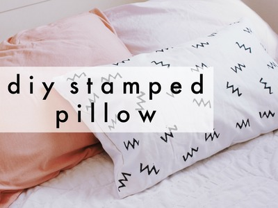DIY Stamped Pillow Using a Potato   Minimal + Modern Decor