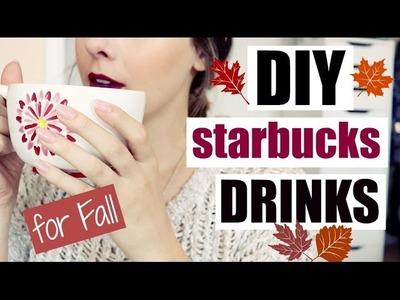 DIY Starbucks Inspired Fall Drinks!