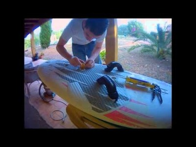 DIY WINDSURF FOOTSTRAP BASES in 9mins Tutorial for free