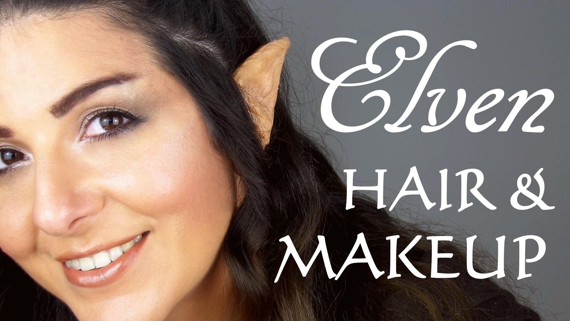 Elven Transformation makeup, hair & DIY ear prosthetics (hobbit.lotr inspired)