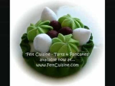 "Felt Crafts - Felt Food Tarts. Pancake Patterns, from the ""Felt Cuisine"" series - by Hiromi Hughes"
