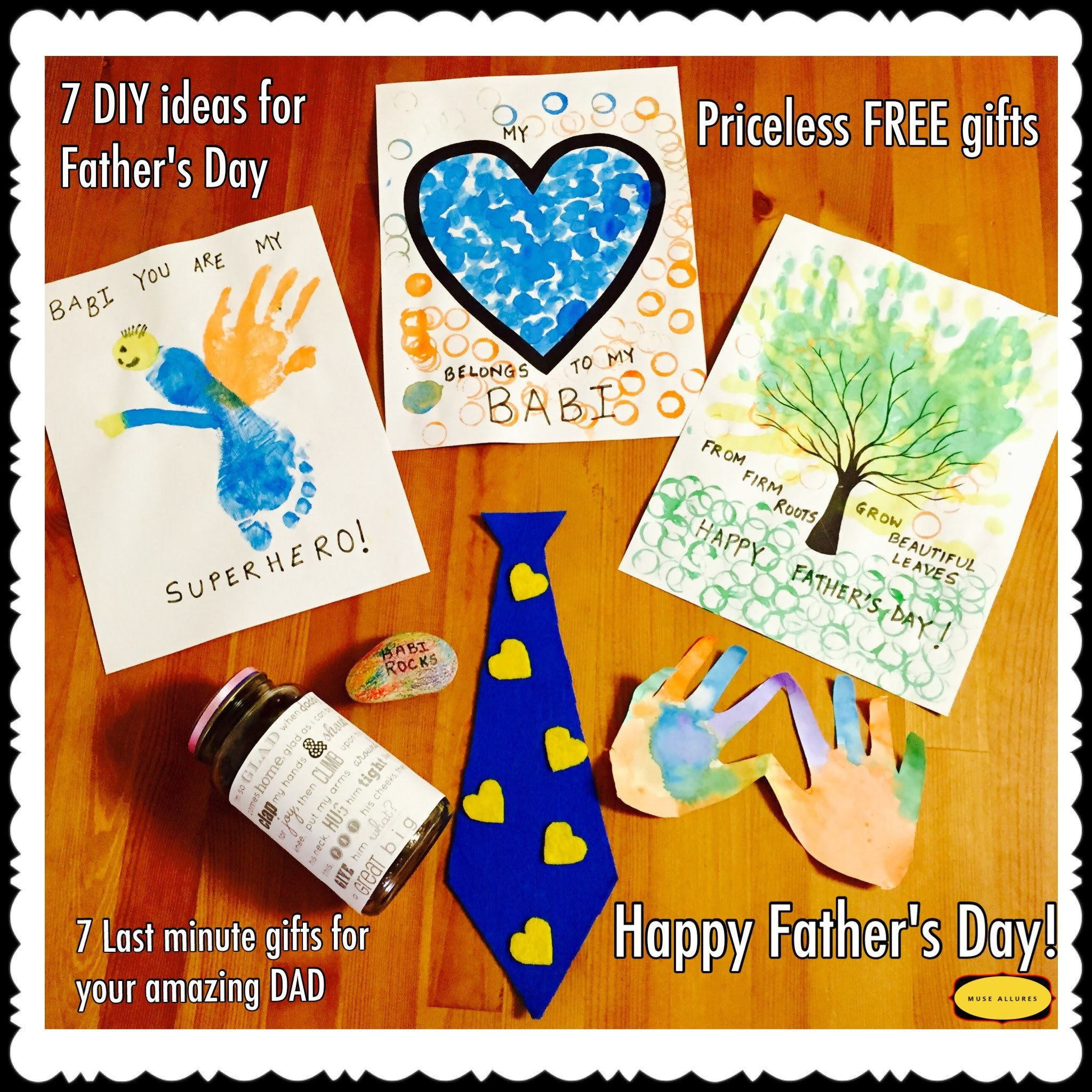 How to: 7 DIY Father's Day Ideas that are Handmade Easy Quick and under $1 Tutorial