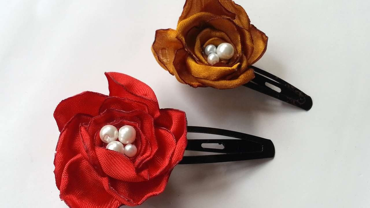 How To Create Pretty Flower Hair Clips - DIY Crafts Tutorial - Guidecentral