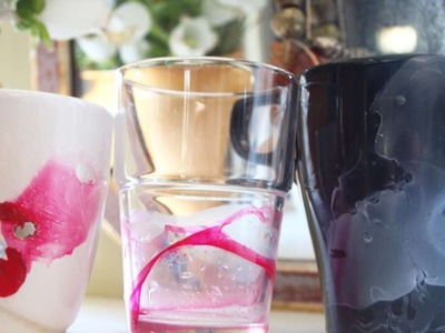How To Easly Paint A Cup With Nail Polish - DIY Home Tutorial - Guidecentral