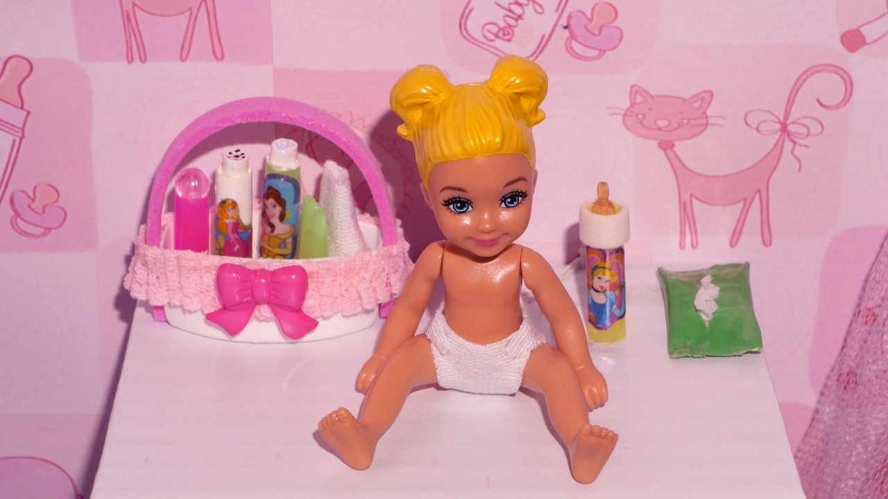 How to make a baby ointment, powder, diaper and wipes for doll (Monster High, EAH, Barbie, etc)