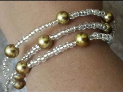 How to Make a Beautiful and Easy Pearl Bracelet - DIY _ Tutorial .