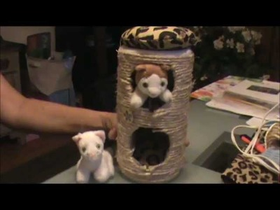 How to make a cat condo for your American Girl doll house -