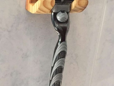 How To Make A Cool Wooden Razor Hanger - DIY Home Tutorial - Guidecentral