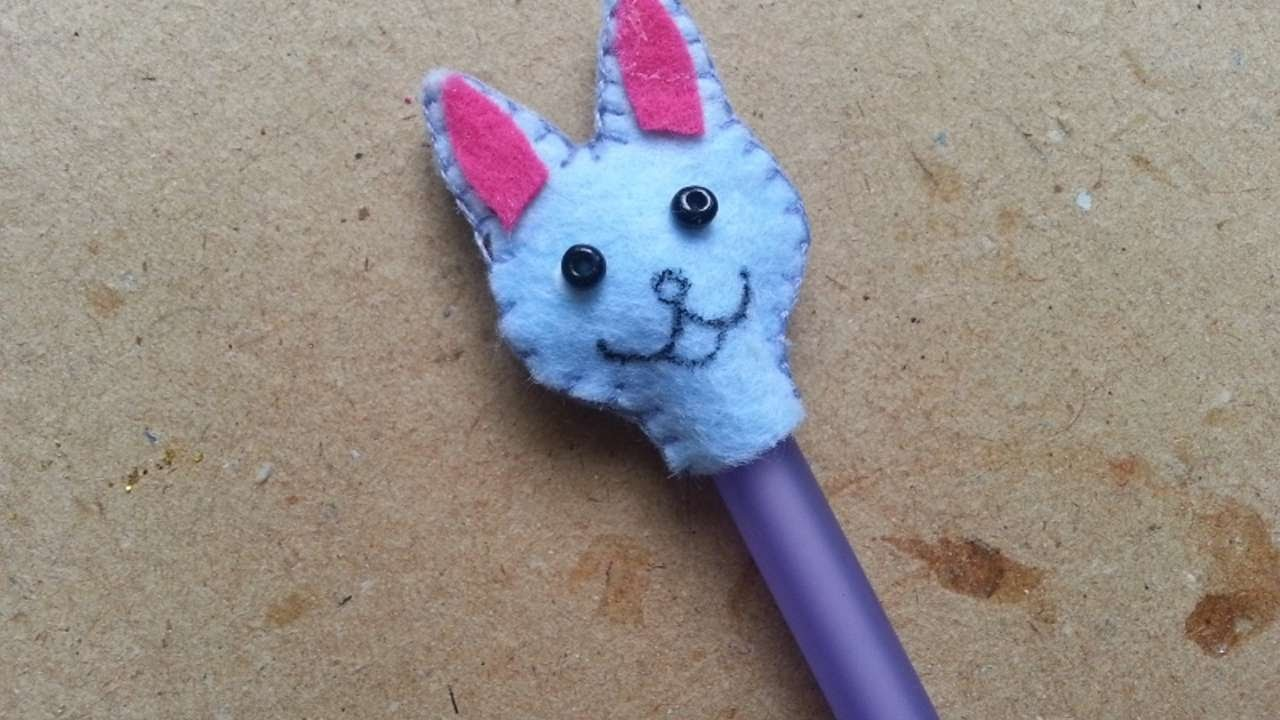 How To Make A Cute Bunny Pencil Cap - DIY Crafts Tutorial - Guidecentral