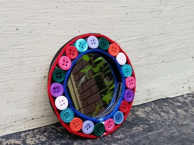 How To Make A Cute Button Mirror Frame - DIY Home Tutorial - Guidecentral