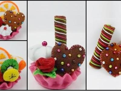 How to make a felt tartlet. cupcake  - part 4- felt waffles DIY (tutorial + free pattern)