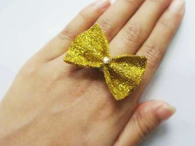 How To Make A Glittery Bow Ring - DIY Style Tutorial - Guidecentral
