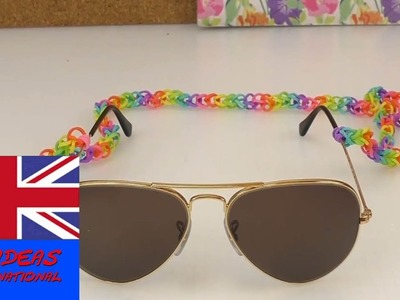 How to make a loom band strap for sunglasses?