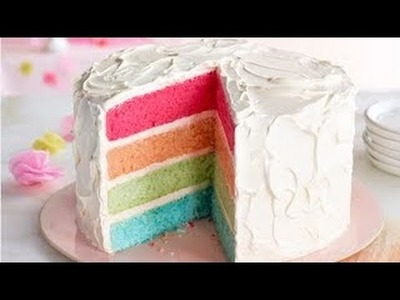 How to Make A Rainbow Cake - Easy