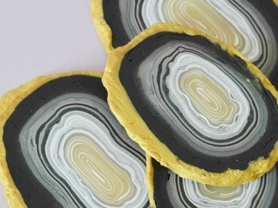 How To Make A Set Of  Faux Agate Coasters Using Clay - DIY  Tutorial - Guidecentral