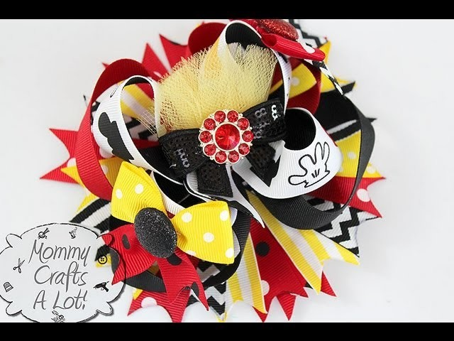 HOW TO make accent bows for your HAIR BOWS (bows for bows? huh) :)