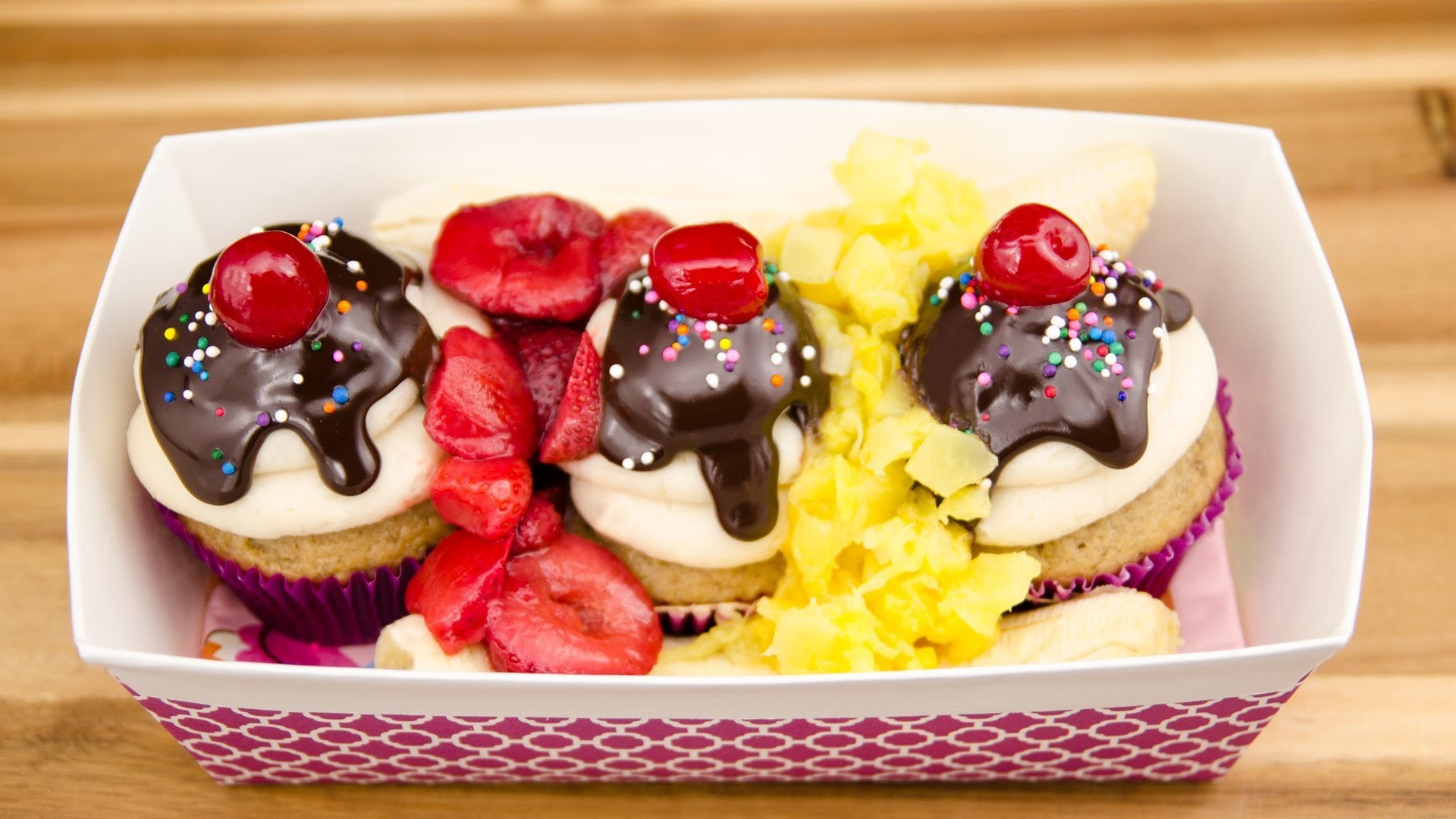 How to Make Banana Split Cupcakes from Cookies Cupcakes and Cardio