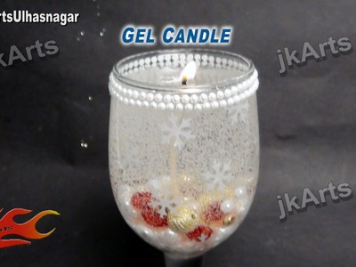 HOW TO: make Gel Candle for Christmas - JK Arts 461