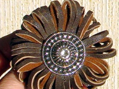 How To Make Universal Leather Brooch - DIY Style Tutorial - Guidecentral