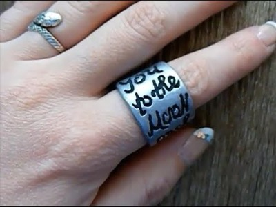 I Love You To The Moon And Back. Tutorial:Polymer Clay Ring 7