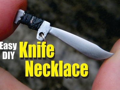 Knife Necklace Easy DIY How to Make Project