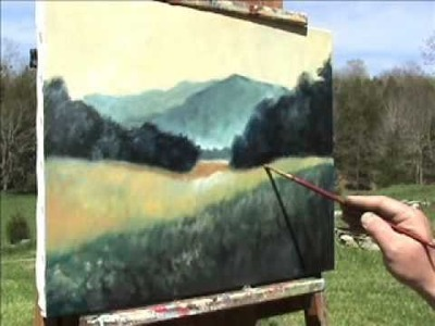 Landscape Painting Demonstration  (w.classical music)